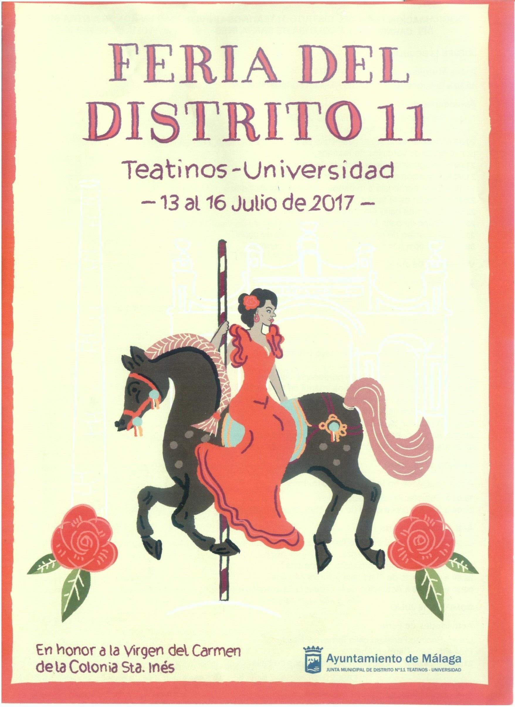 Feria del distrito 11  Teatinos – Universidad – 13 al 16 Julio De 2017