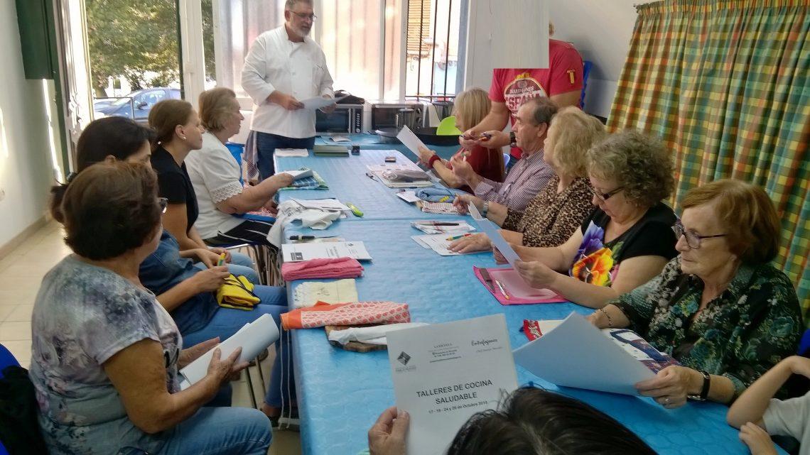 Taller de cocina saludable, que impartimos en nuestra Asociación de Vecinos Pablo Picasso Avv Pablo P. J de Málaga el 17, 19 ,24, 26 de Octubre de 2018