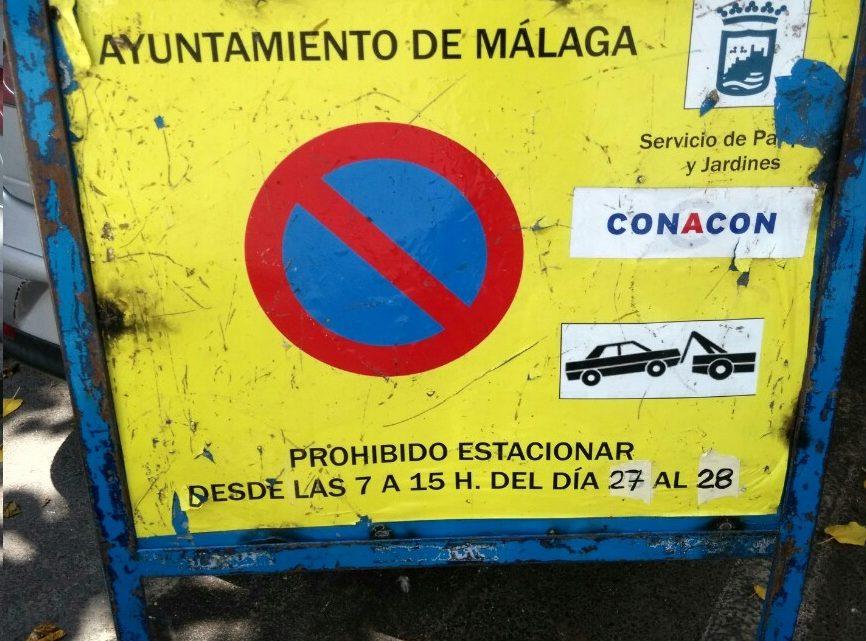 Prohibido estacionar desde Las 7 H. A 15 H. del día 27 al 28 Junio Labores de Poda en calle Alcalde Joaquín Quiles,16