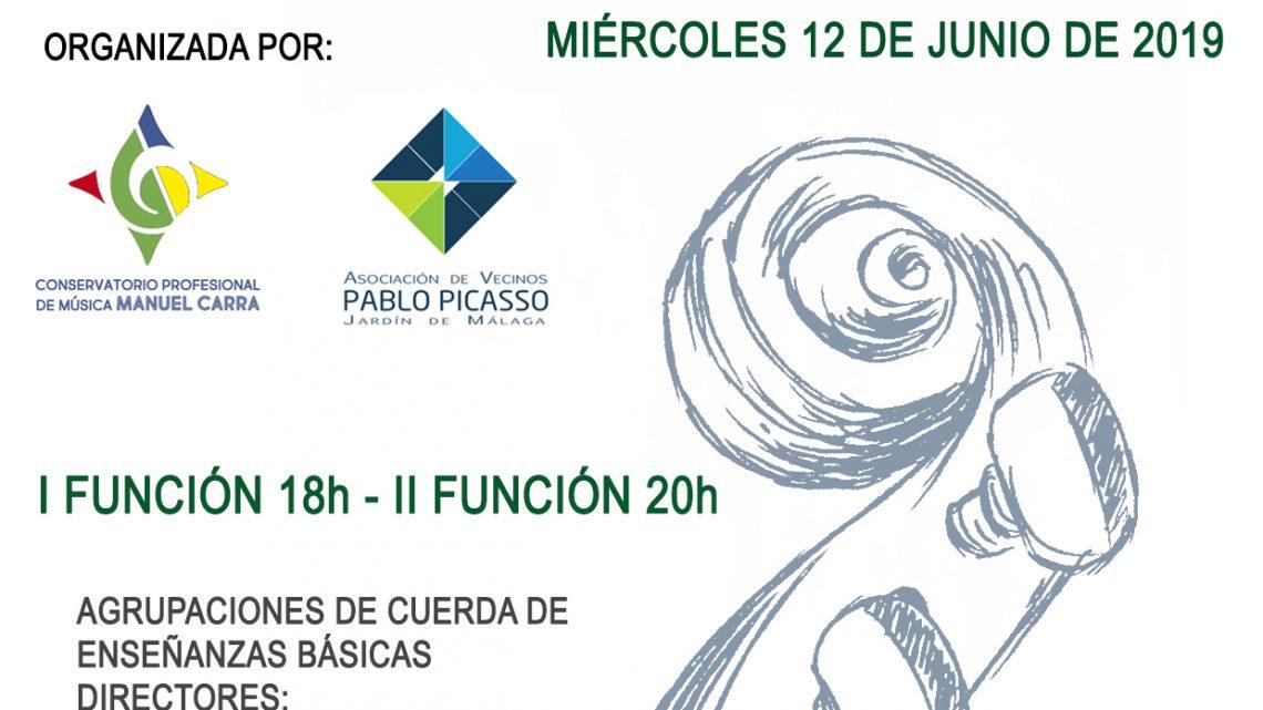 Concierto al aire libre Auditorio Jardín de Málaga Conservatorio Manuel Carra de Málaga y en colaboración Asociación de Vecinos Pablo Picasso Jardìn de Màlaga la Junta Municipal de Distrito 3 Ciudad