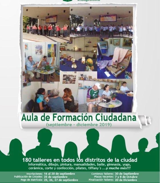 Aula de Formación Ciudadana (septiembre – diciembre 2019 )Aula de Formación Ciudadana en el 2ª módulo de  2019