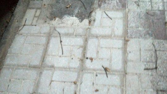 Reposición de tramos baldosas en CL Alcalde Nicolás Maroto solicitado por Asociación de Vecinos Pablo Picasso Jardìn de Màlaga