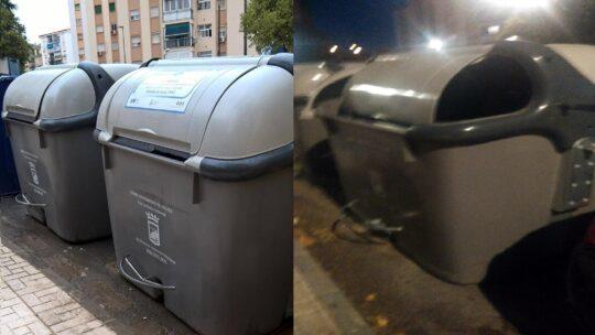 Reposición armazón exterior de contenedor en Calle Alcalde Joaquín Quiles nº19 Solicitado Asociación de Vecinos Pablo Picasso Jardìn de Màlaga