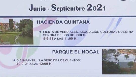 Actividades culturales que se va a desarrollar hasta el próximo mes de septiembre, 'Vive el verano con la Cultura en Ciudad Jardín'.